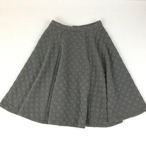JOA Los Angeles Gray Polka Dot Circle Skirt
